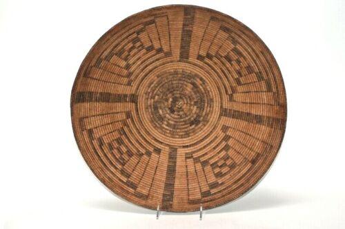Large Pima Basket; Winnowing Tray,Turtle Shell Motif 5 x 18 1/4 inches