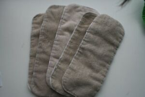 5 infant/baby sized microfiber inserts
