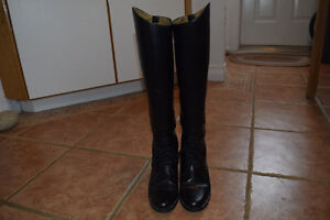 Women's Equestrian Leather Riding Boots, Size 38 - REDUCED PRICE