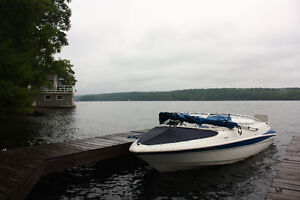 19' Bowrider Inboard/Outboard with Trailer-Excellent Condition!
