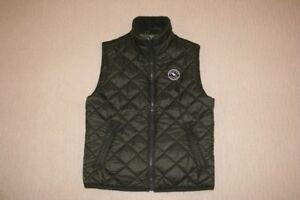 Boys' Abercrombie Kids Khaki Quilted Vest - size Small (10)