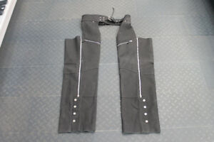 ZR Black Leather Chaps size 2extra large Trusted Protection