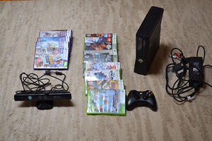 Xbox 360 with Controller and Kinect + 14 Games + Udraw