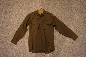 WWII US Army Wool Officer Shirts (Vintage and Authentic)