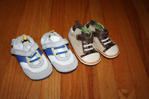 Two Pairs As New Robeez Shoes size 3/4
