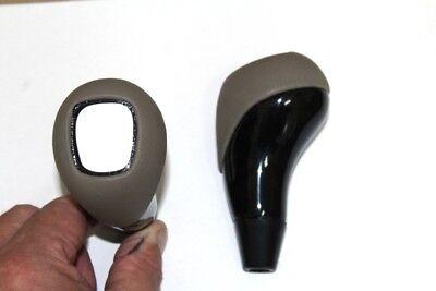Schaltknauf Mercedes W215 W220 Vogelaugenahorn schwarz Leder Stone für Emblem