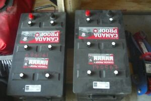 TWO HEAVY DUTY BATTERIES FOR YOUR RV  ECT.