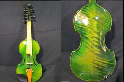 "Baroque style SONG Brand master 6×5 string 14"" Viola d'Amore,green colour #9429"