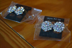 Rhinestone Earrings (Pierced Ears)