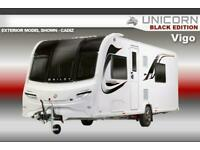 Bailey Unicorn Black Edition Vigo, 2021 NEW, 4 Berth, Touring Caravan