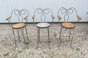 Three Old Soda Fountain Chairs London Ontario image 1