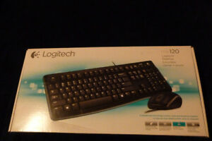 Brand new keyboard with mouse, model mk120