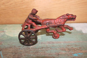 Old Antique Cast Iron Horse Toy