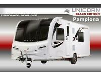 Bailey Unicorn Black Edition Pamplona, 2020 NEW, 4 Berth, Touring Caravan