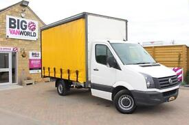 2013 VOLKSWAGEN CRAFTER CR35 TDI 109 MWB CURTAIN SIDED BOX CURTAIN SIDE DIESEL