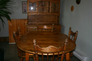 Dining Table and Hutch - Solid Wood.  PRICE REDUCED!