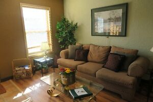 Fully furnished large suite one block from lake gorgeous view