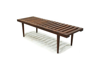 Mid Century Solid TeakWood Slat Coffee Table