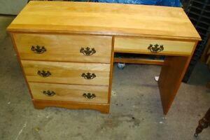 4 drawer solid maple desk (just reduced to 75.00)