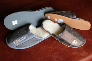 Genuine leather wool slippers for men and women all sizes