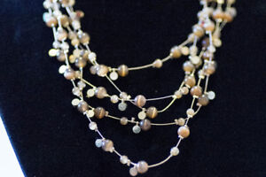 NEW Beaded Brown Multilayer Necklace