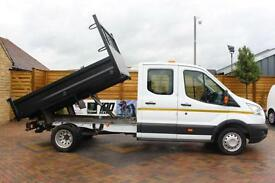2015 FORD TRANSIT 350 TDCI 125 L3 DOUBLE CAB STEEL TIPPER DRW TIPPER DIESEL