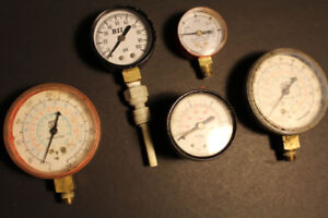 GAUGES mixed Lot Retro STEAMPUNK Man Cave PROPS Cosplay