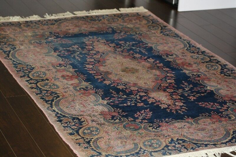 Antique Hand Knotted Persian Carpet Kerman Rug 5 5 X4