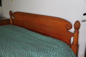 Double Size Wooden Bed - Pinecone Style