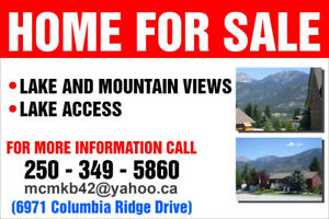 Lake/Mountain View Home For Sale