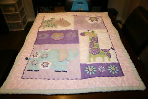 Baby Blankets, Crib Skirt, Crib Sheets Bundle $30