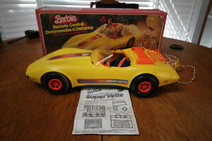 1979 BOXED REMOTE CONTROL BARBIE CORVETTE CAR COMPLETE