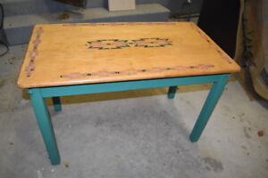 antique table with southwest accents UXBRIDGE AREA
