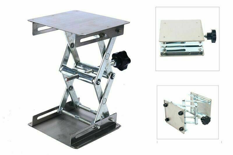 "Laboratory Adjustable Lifting Stand Platform Scissor Jack Bench Lifter 4x4"""