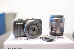 Canon EOS M Mirrorless Camera w/ 18-55mm, 22mm f/2 + more! Peterborough Peterborough Area image 2