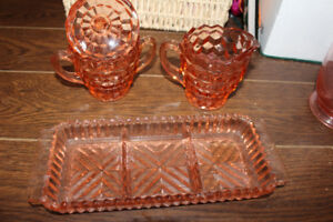 Cranberry Glass Set