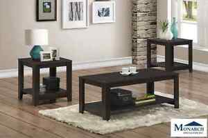 Brand NEW Cappuccino 3PC Table Set! Call 905-688-3939!