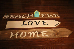 Wooden Decor Signs for sale