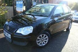 2005 (55) Volkswagen Polo 1.2 SE 65PS Black5 Door Finance Available Low Miles