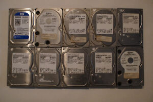 Ten 500GB hard drives