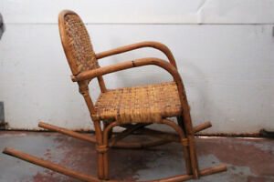 EXCELLENT COND. CHILDS BAMBOO/ RATTAN ROCKER