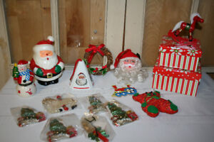 Christmas- Ornaments, Candle, Trinket box, etc.
