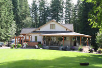 House on acreage For Rent in South Canoe area of Salmon Arm