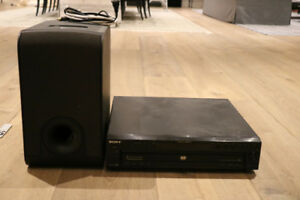 B&W subwoofer and Sony DVP-NC00