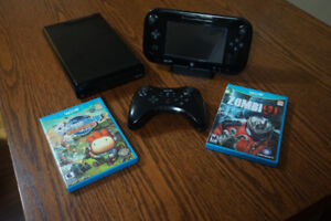 32g wii u and pro controller plus 2 games
