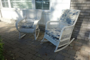 Rattan Rocking Chairs - Sturdy Vintage Quality