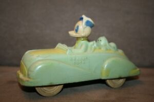 Disney Donald Duck and Pluto Antique Car Toy