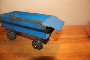 Vintage Tin Toy Farm Wagon - Blue London Ontario image 7