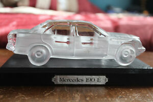 Foreman Mercedes 190 E Frosted Lead Crystal paper weight