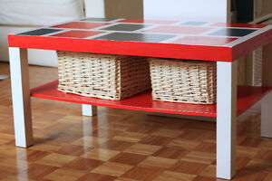 Coffee table (red and grey)